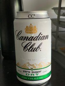 Can of Canadian Club Zero Sugar